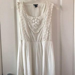 Forever 21 White Crochet Dress